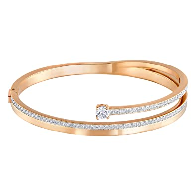 various design On Clearance shop for luxury Swarovski Women White Crystal Bangle