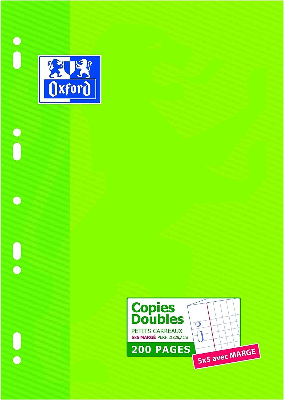 Oxford 200 hojas, A4 verde Bloc de notas perforados