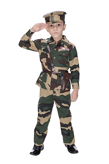 dfc68f26631 Smuktar Garments Army Costume For Kids (5 to 6 Years)