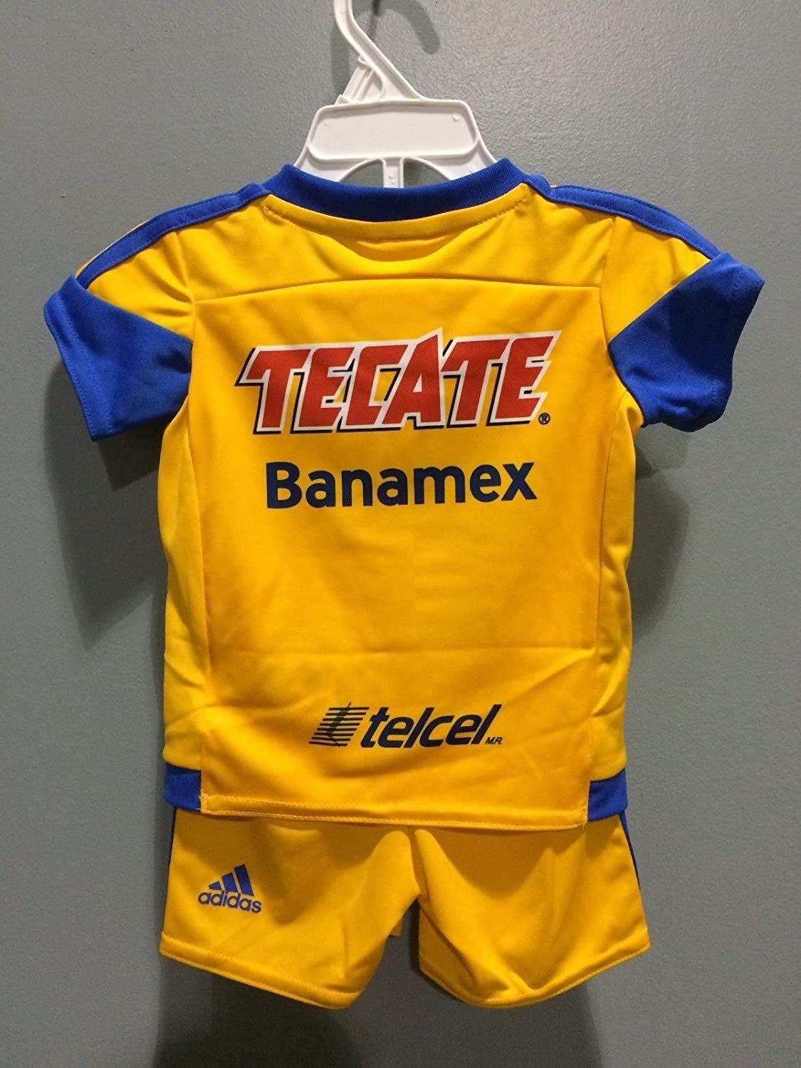 Amazon.com : Tigres UANL Yellow Home Liga MX Kids Jersey and Shorts Set Pumas America Chivas (0-6 Months) : Sports & Outdoors