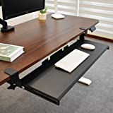 """Seville Classics Airlift 360 Clamp Sliding Keyboard Tray Extra-Wide Shelf Computer Desk Accessory, 31.5"""", Black"""