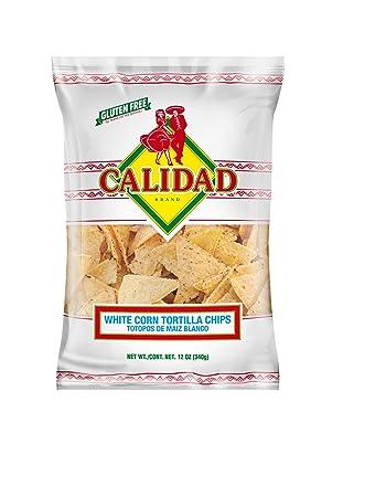 Calidad White Corn Tortilla Chips, 12 oz.