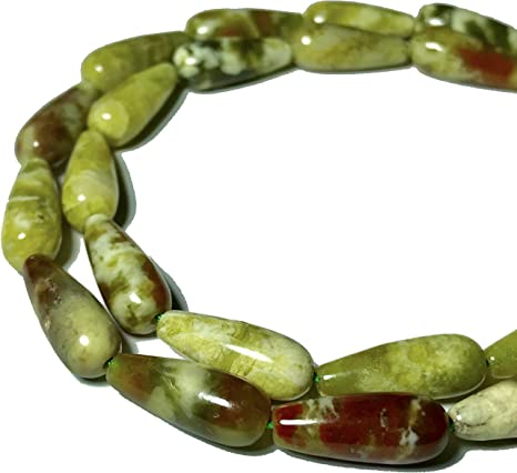 """Natural Faceted Gemstone Tear Drop Loose Beads 6x16mm 15.5/"""" per Strand"""