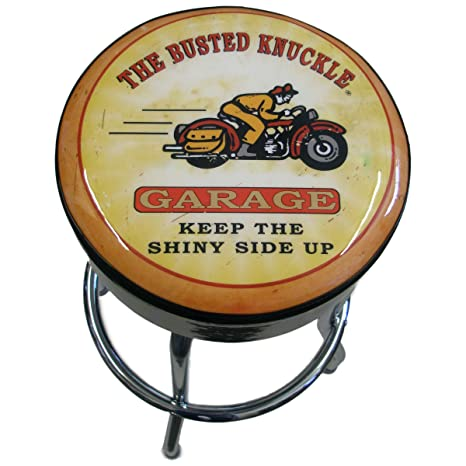Pleasing Busted Knuckle Garage 09 Bkg Mc Motorcycle Bar Stool Amazon Caraccident5 Cool Chair Designs And Ideas Caraccident5Info
