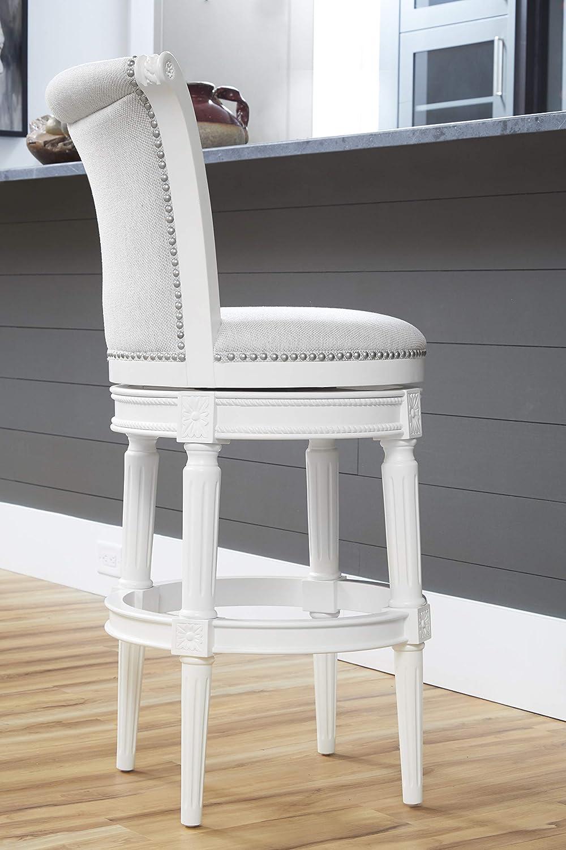 Amazon Com Newridge Home Goods Newridge Home Chapman Bar Height Swivel Bar Stool White Nr107103 Fbs Aw Furniture Decor