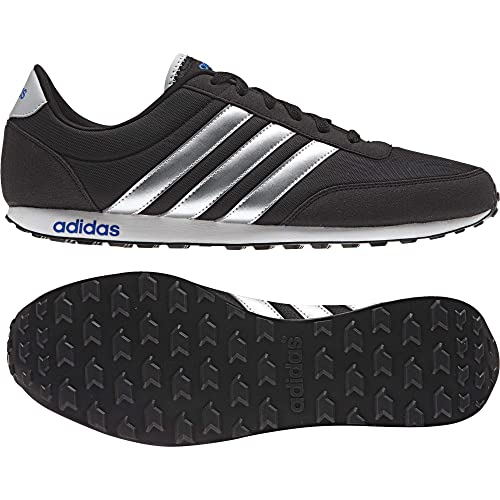 adidas V Racer, Zapatillas para Hombre, Negro (Negbas/Plamat/Azul), 38 EU: Amazon.es: Zapatos y complementos