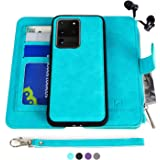 MODOS LOGICOS Samsung Galaxy S20 Ultra Case, [Detachable Wallet Folio][2 in 1][Zipper Cash Storage][Up to 14 Card Slots 1 Pho