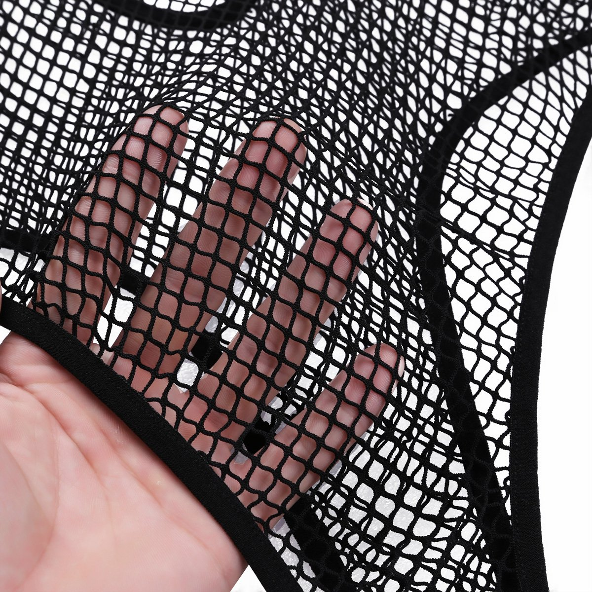 75546b6c66b Amazon.com  iiniim Sexy Women s Fishnet G-String See Through Bodysuit Teddy  Lingerie  Clothing