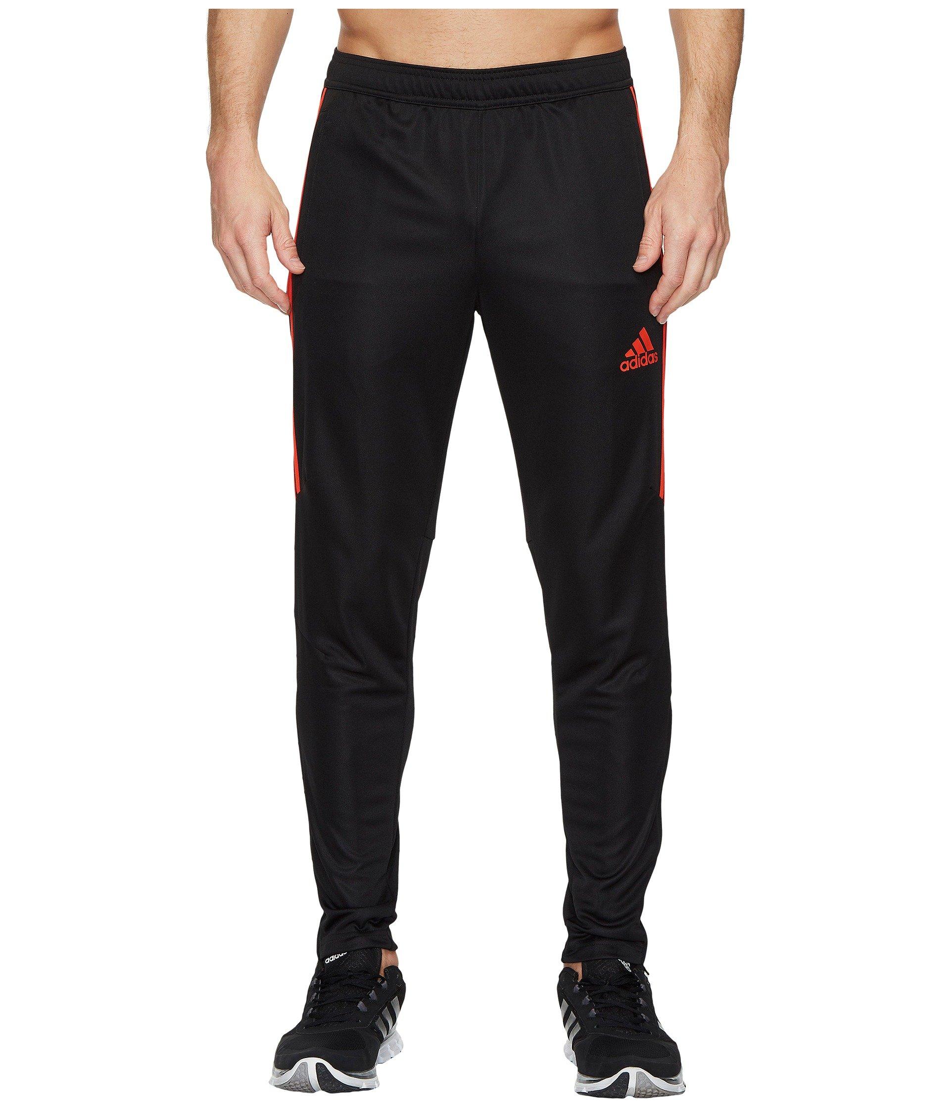 adidas Mens Tiro17 TRG Pant, Black/Red, Small