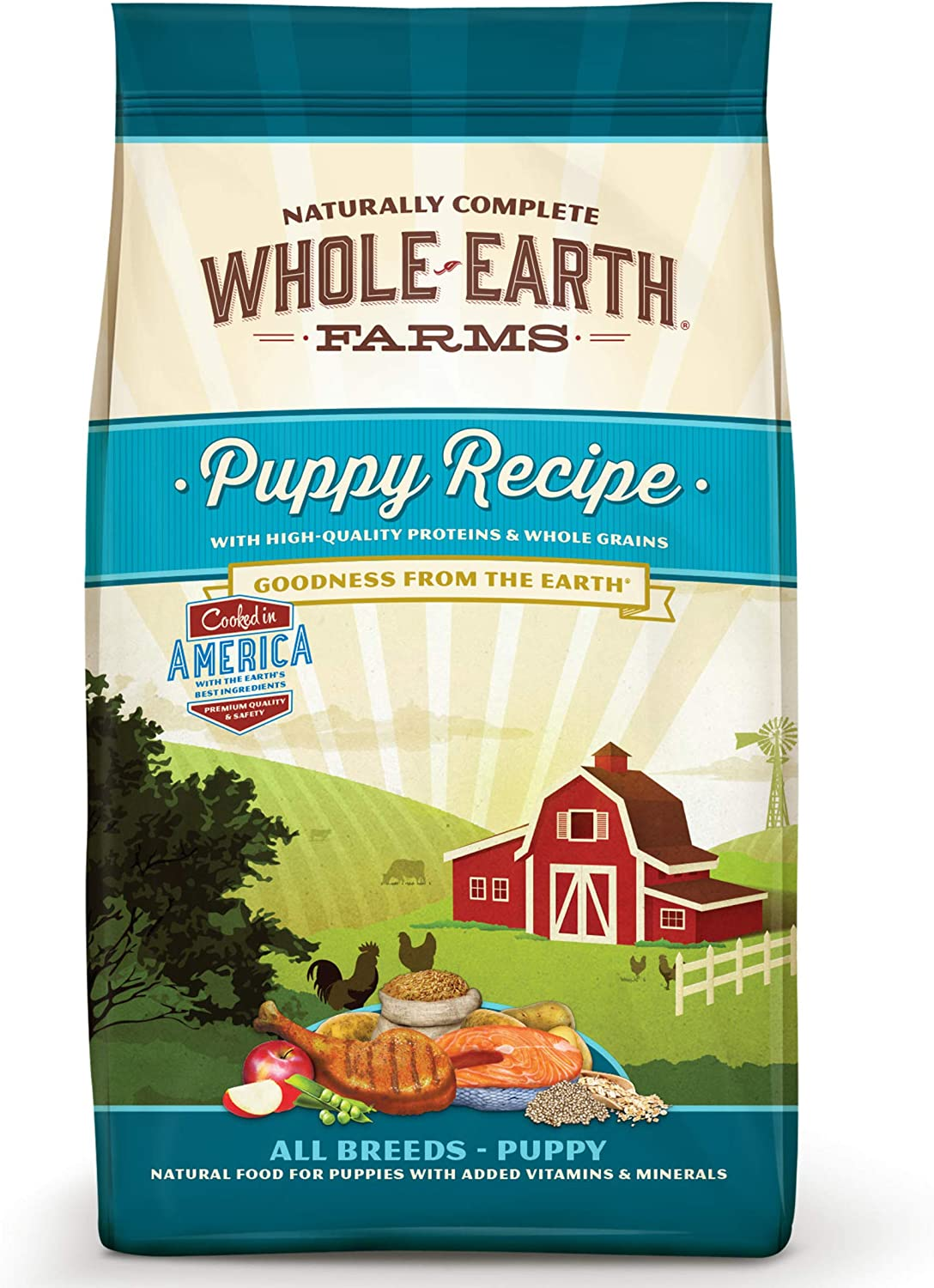 Whole Earth Farms Natural Dry Dog Food Puppy Recipe - 12.0 lb Bag
