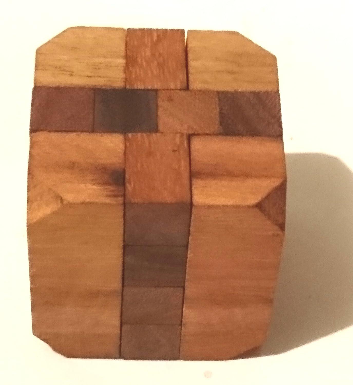 Cubo diamante. Juego madera. Juego de ingenio, puzzle: Amazon.es: Handmade