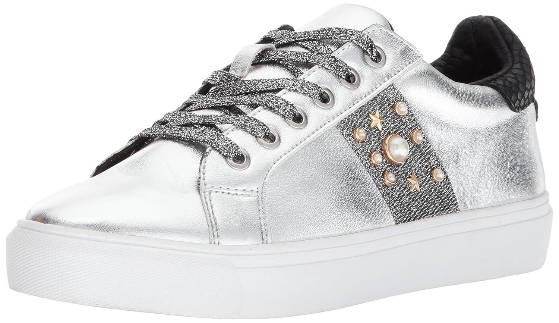 STEVEN by Steve Madden Women's Cory Fashion Sneaker B071Z27BDH 10 B(M) US Silver/Multi