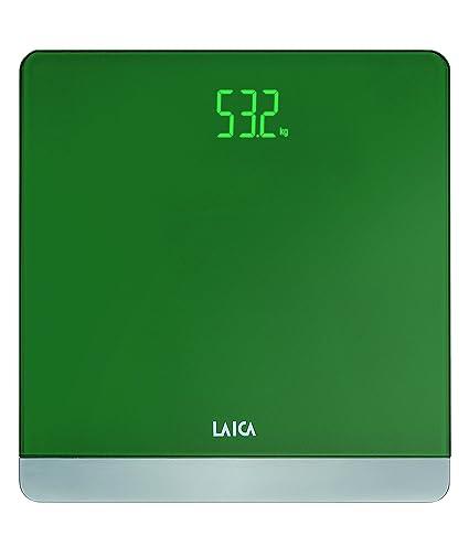 Laica Serie 4 - Bascula electrónica, color verde, 180 kg