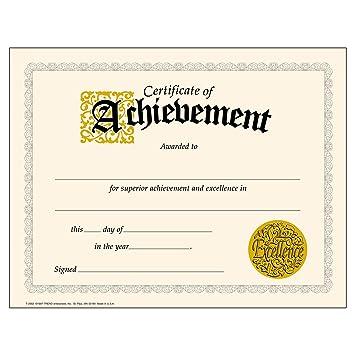amazon 英語版賞状 certificate of achievement t2562 授業