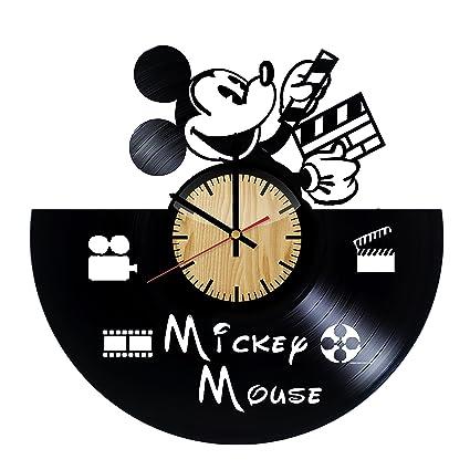 amazon com mickey mouse disney design vinyl wall clock handmade
