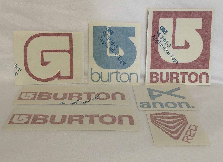 Burton LARGE SNOWBOARDS ASSORTED STICKER PACK