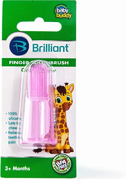 Anniston Baby Accessories 2Pcs Baby Infant Toothbrush Silicone Finger Cot Cover Tongue Cleaning Brush Tool Perfect Fun time Play Activity for Infants /& Toddlers