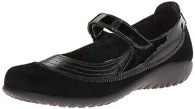 f6ea13ecba72 NAOT Footwear Women s Kirei Wide Maryjane Black Madras Leather Black Suede  - 35 ...