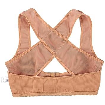 Corrector de postura – Corrector personal de espalda cruzada ajustable, sujetador de pecho, soporte