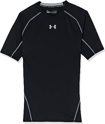 mezclador Pelearse crema  Amazon.com: Under Armour HeatGear Armour Camiseta de compresión de manga  corta para hombre: Clothing