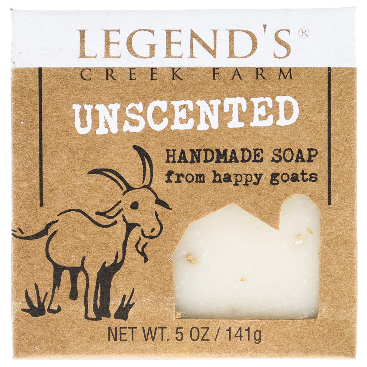 Unscented Goat Milk Soap - 5 Oz Bar - Great For Sensitive Skin - Certified Cruelty Free