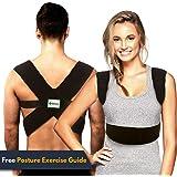 Back-Up Posture Corrector Support Brace for Women & Men   Shoulder & Clavicle Support   Thoracic Kyphosis   Lower & Upper Back Pain Relief   Cervical & Lumbar Support - Fully Adjustable