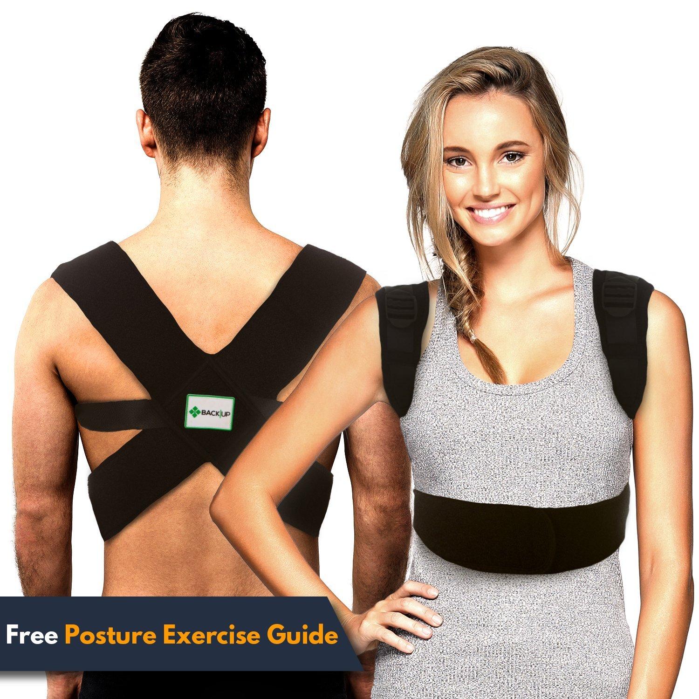 Back-Up Posture Corrector Support Brace for Women & Men | Shoulder & Clavicle Support | Thoracic Kyphosis | Lower & Upper Back Pain Relief | Cervical & Lumbar Support - Fully Adjustable