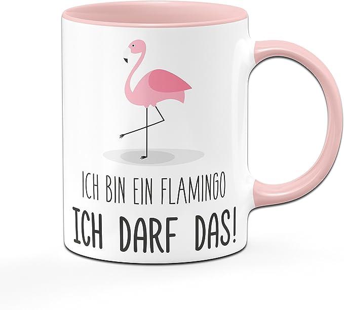 Kaffee-Tasse Flamingo Mir reichts ich geh schaukeln Sprüche Spruch Teetasse