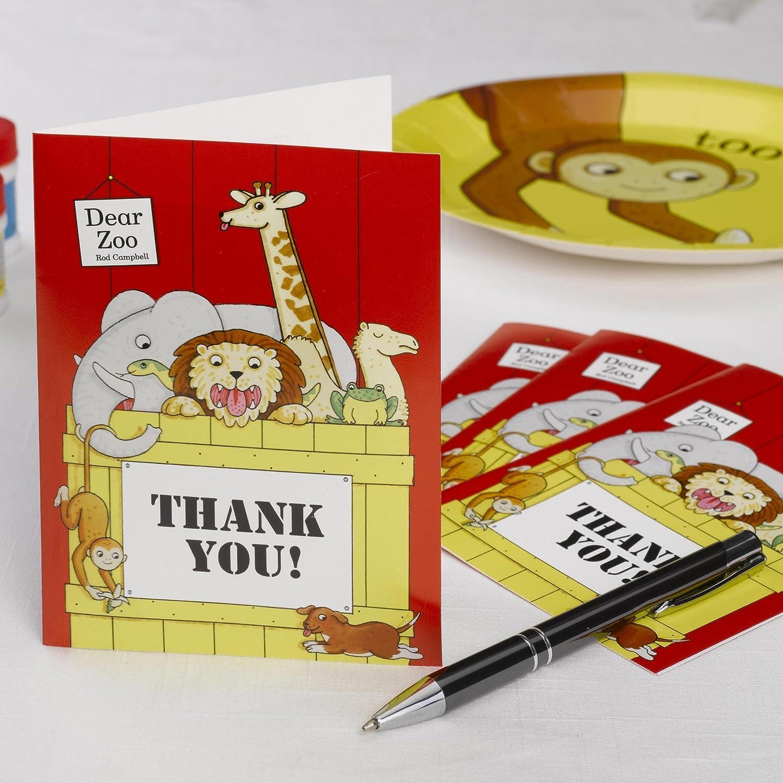 Neviti Dear Zoo con Scritta Thank You Biglietto di Ringraziamento