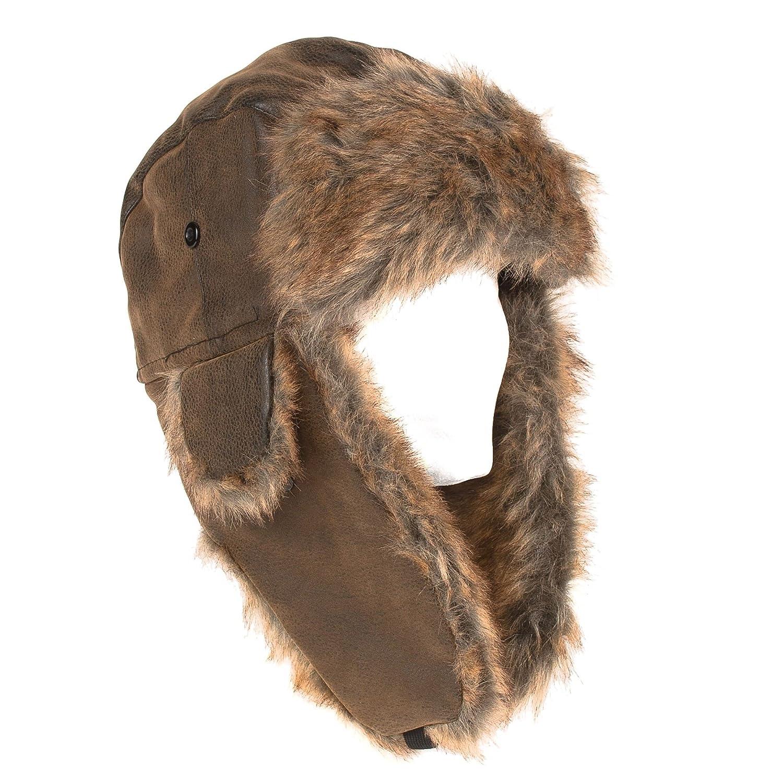 Hat To Socks Aviator Faux Fur Russian Style Trapper Hat