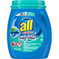 180-Count All Mighty Pacs Laundry Detergent 4 in 1 with Odor Lifter