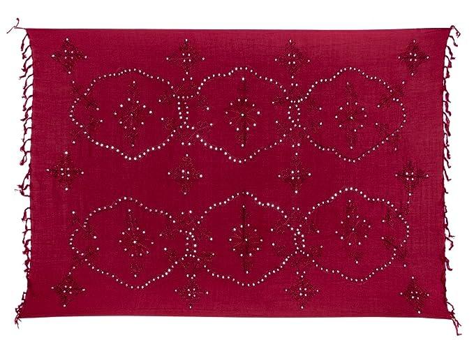Sarong Handbestickt inkl. Sarongschnalle im Raute Design - Viele Größen und exotische  Farben und Muster zur Auswahl - Pareo Dhoti Lunghi: Amazon.de: ...