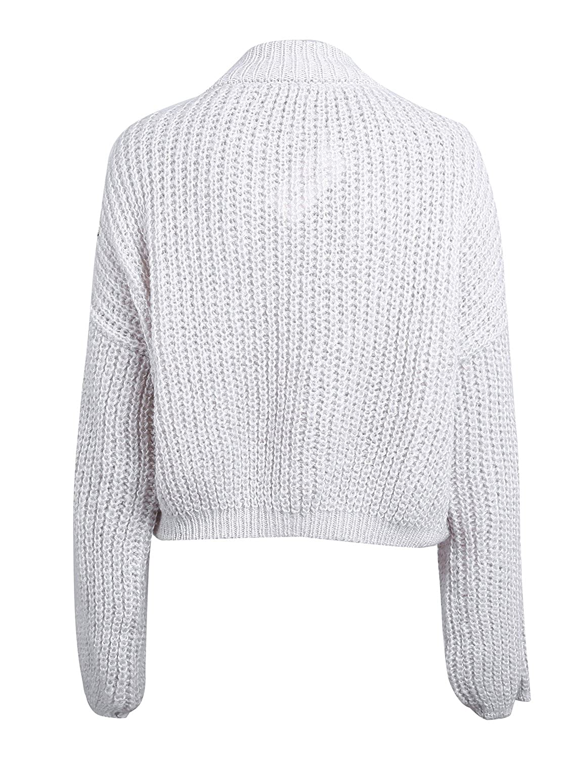 e079a50352 Simplee Womens Casual Long Sleeve Loose Pullover Knit Sweater Jumper Top  OW396