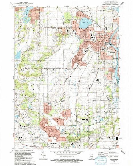 Amazon Com Yellowmaps Mchenry Il Topo Map 1 24000 Scale 7 5 X