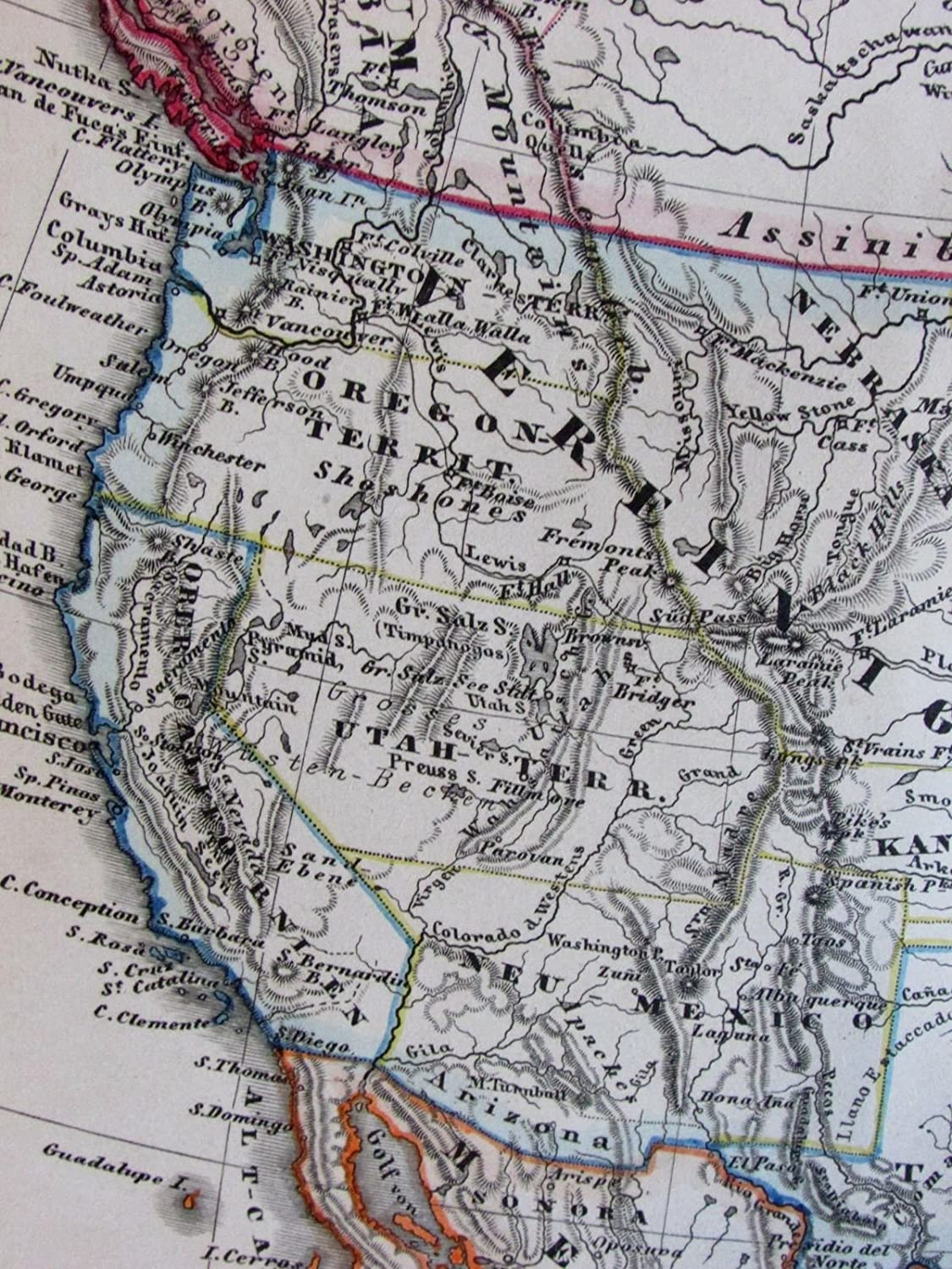 Amazon.com: Territorial United States transitional North ... on map of civil war 1860, map of usa in 1860, map of religion in 1860, map of the united states 1860, map of prussia 1860, map of boston 1860, map of kansas 1860, map of chicago 1860, map of alabama 1860, map of western states in 1860, map of u.s. 1860,