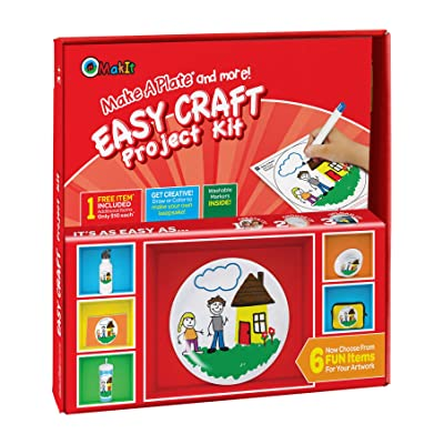 Makit Products Make a Plate and More - Easy Craft Project Kit: Kitchen & Dining