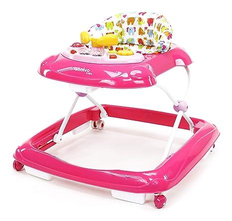 Asalvo Elefantes - Andador, Color Rosa: Amazon.es: Bebé