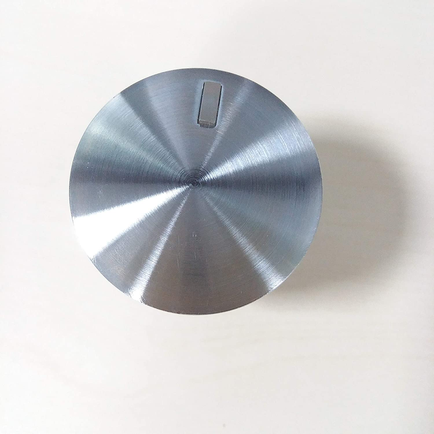 WB03X24360 Gas Cooktop Knob for GE. Stainless Steel Range Burner Control Knob. Replace Part Number WB03T10259, 4179424, AP5980302, PS11700818, EAP11700818