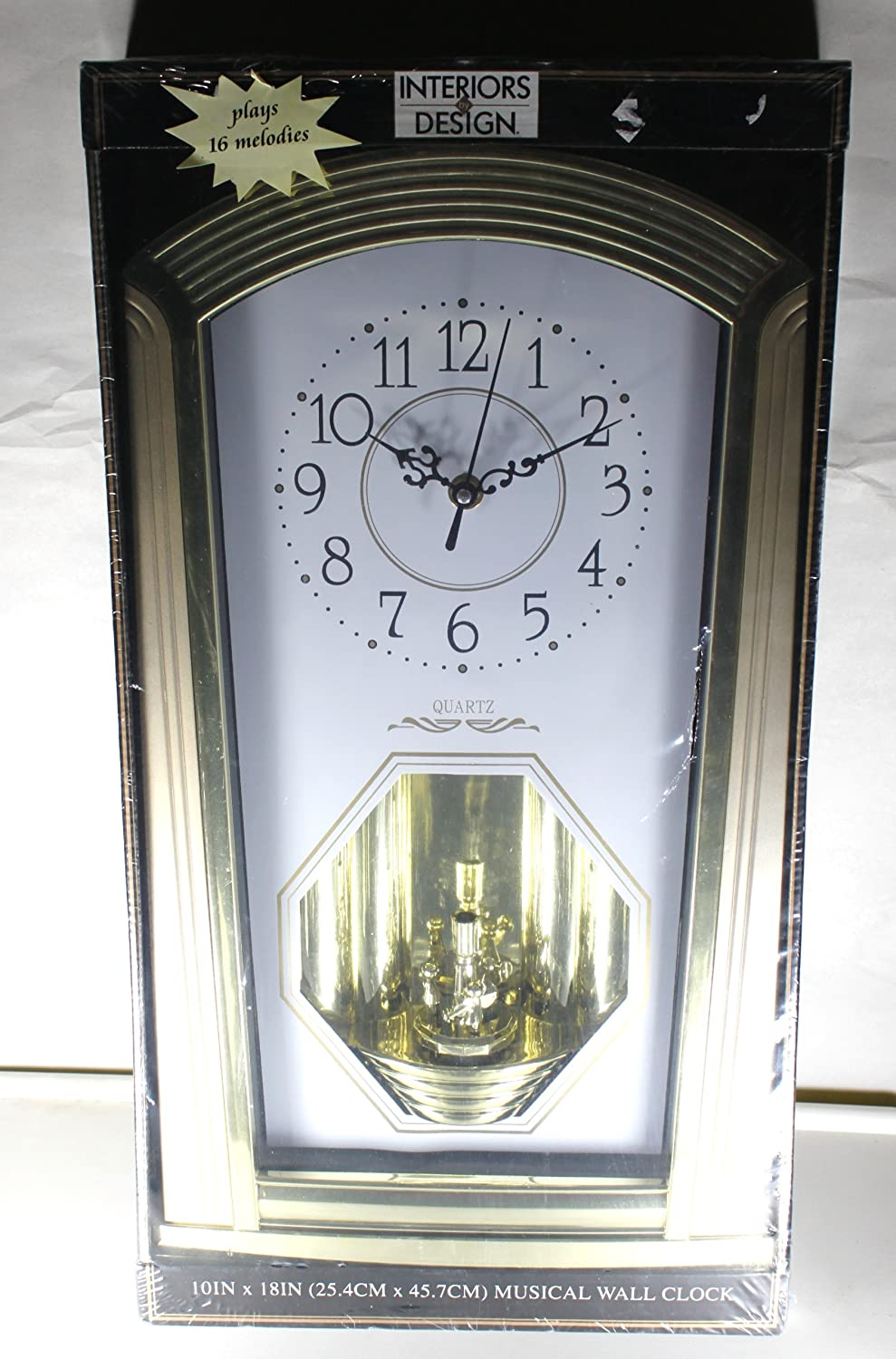 Interiors by Design Quartz Musical Wall Clock Hourly Chime