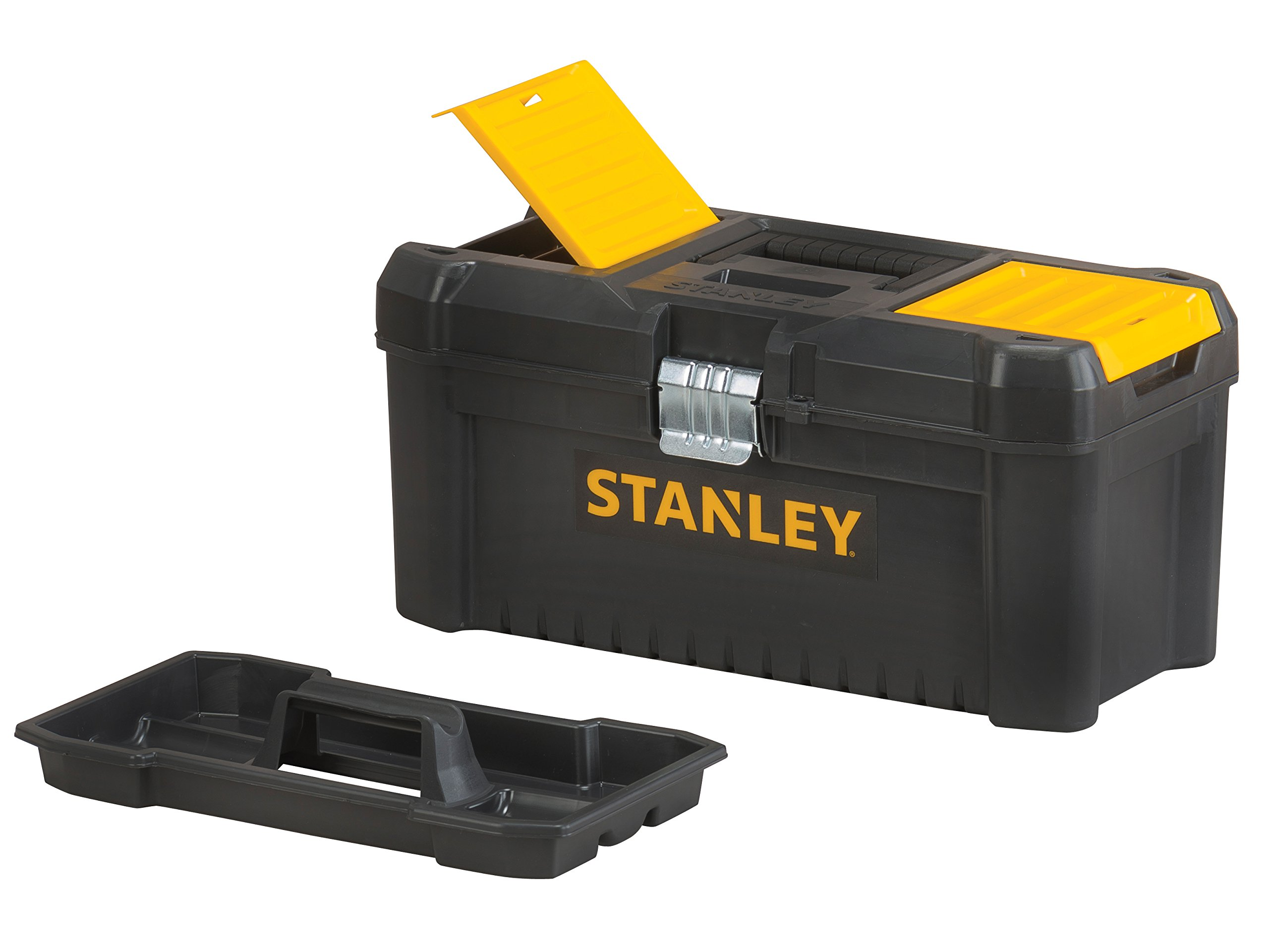 Stanley Tools Basic Toolbox with Organiser Top & Geometric Lock Latches | 16in by Stanley Tools (Image #2)