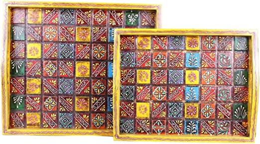 Hand Made Serving Trays Set of 4