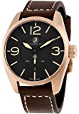 Brooklyn Watch Co. Lafayette Black Dial Rose Gold-tone Swiss Quartz Mens Watch CLA-B