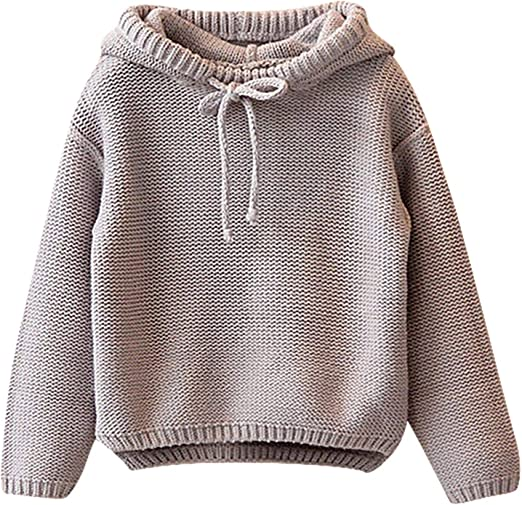 Autumn Winter Arrivals Cotton Sweater Top Baby Children Clothing Boys Girls Knitted Striped Pullover Sweater 3T-7T Size
