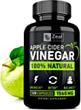 100% Natural Raw Apple Cider Vinegar Pills (1500 mg   120 Capsules) Pure Apple Cider Vinegar with Cayenne Pepper for Fast Weight Loss Cleanse, Appetite Suppressant, & Bloating Relief