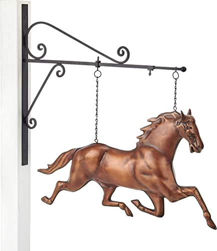 Good Directions 580BRNH Horse Hanging Wall Sculpture, Pure Copper Hand Finished Bronze Patina