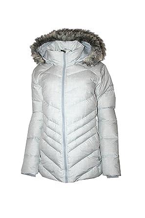 fa9b2791d79b0 Amazon.com  Columbia Women Icy Heights Hooded Down Puffer Jacket (Sea  Salt Printed