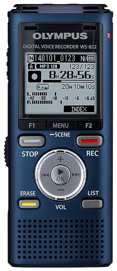 amazon com olympus ws 822 blue voice recorders with 4 gb built in rh amazon com Olympus Voice Recorder VN-5000 Olympus Voice Recorder VN-5000