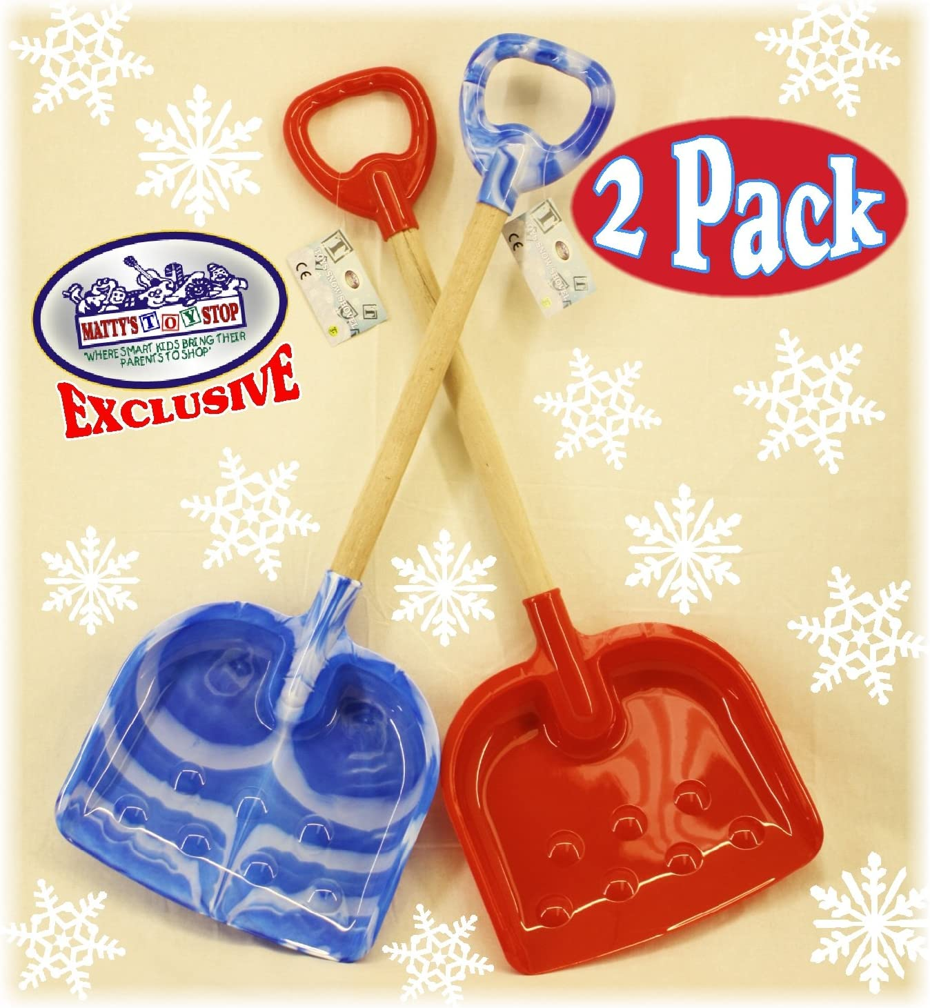 4 Pack Homeware Red, Blue, Green /& Yellow Swirl Mattys Toy Stop 10 Plastic Sand Shovels for Kids Complete Gift Set Party Bundle