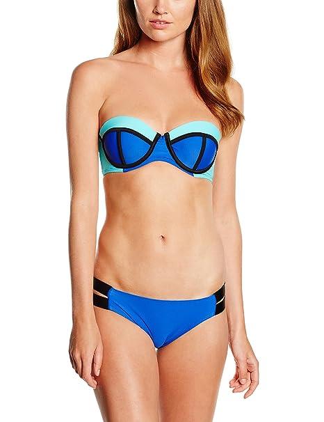 Miami Beach Swimwear Lily, Bikini Mujer, Rosa (Pink Glow Cup), 36