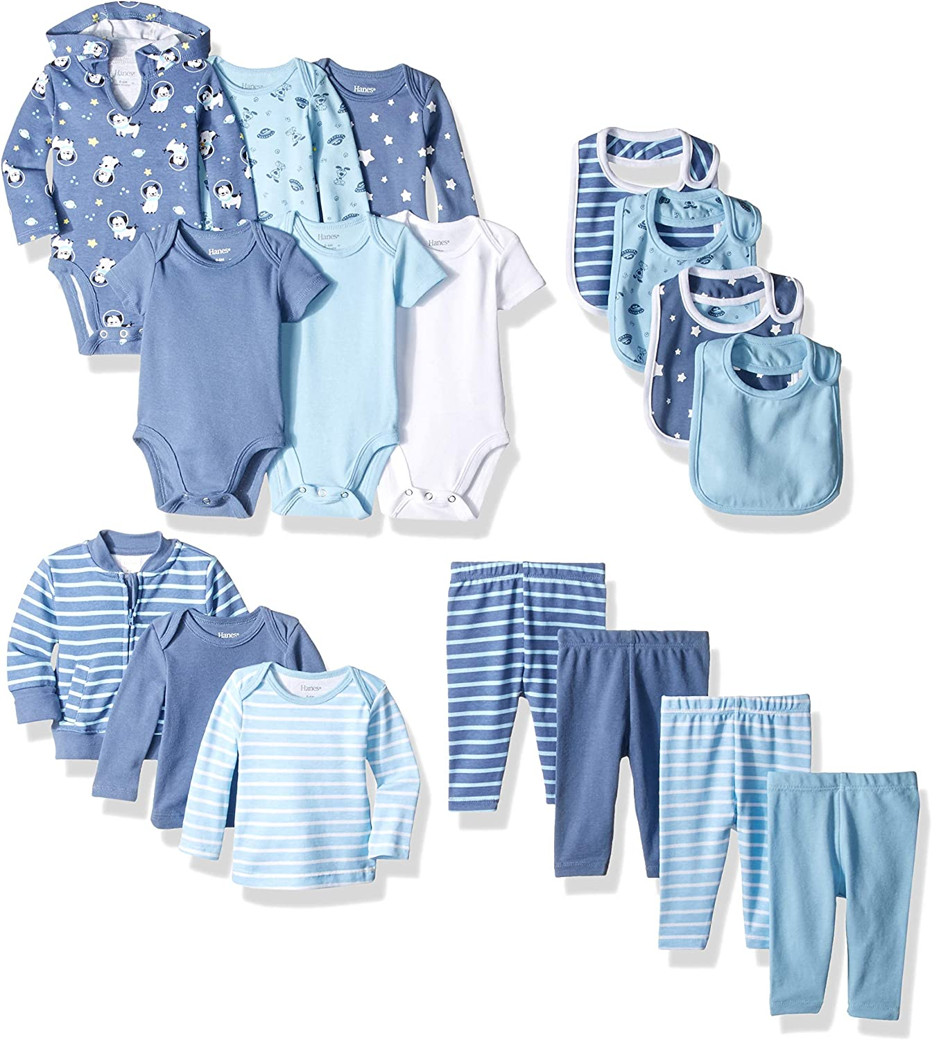 Hanes Ultimate Baby Flexy-17 Piece Cool Weather Essentials Set